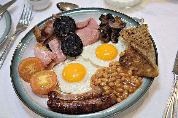 Bliss for me is a full English breakfast