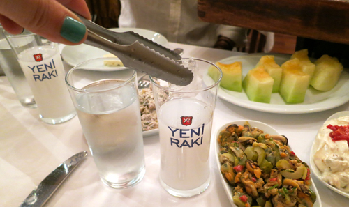 Raki and water - image: wanderlustandlipstick.com