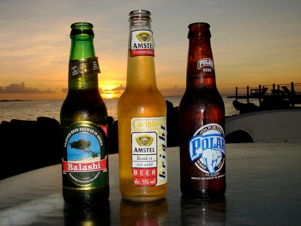 Balashi & Amstel from Aruba, Polar from Curacao