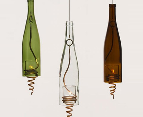 Reused-Bottle-Candle-Holders