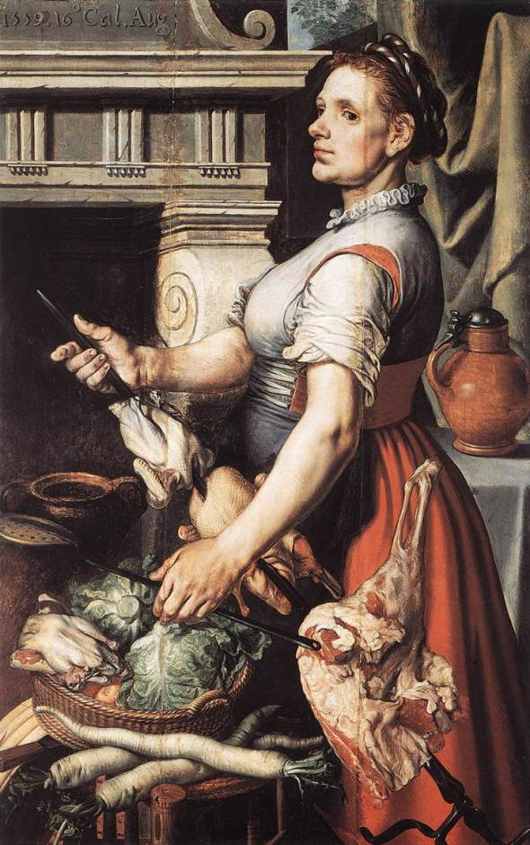 "Pieter Aertsen - ""The Cook in Front of the Stove"""