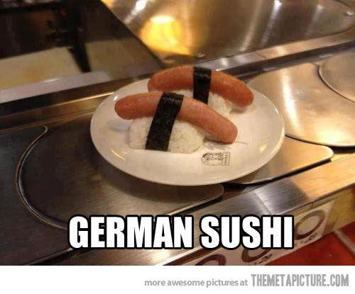 funny-sushi-Germany-sausage