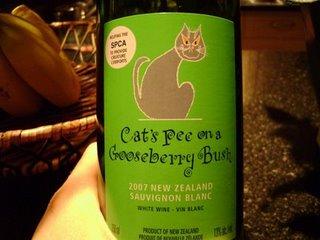 Cat's pee wine