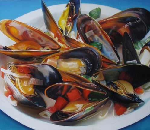 Big Steamed Mussels