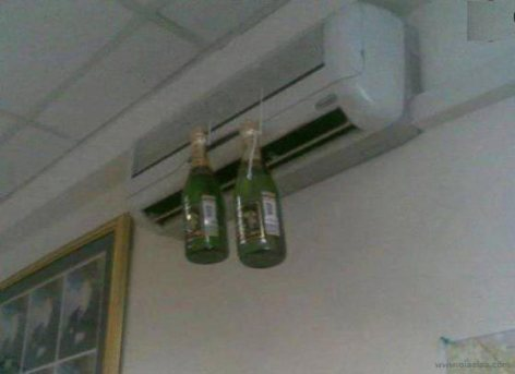 funny-brilliant-idea-to-chill-a-beer-air-condition