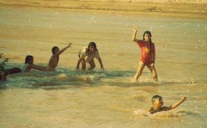 Where there is water, there are kids