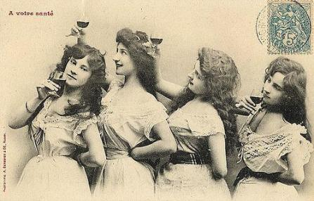 great-wine-images-vintage-ladies-drinking-wine
