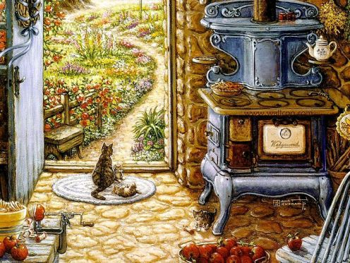 Welcome_to_My_Garden_Art_Painting_09_blue_stove