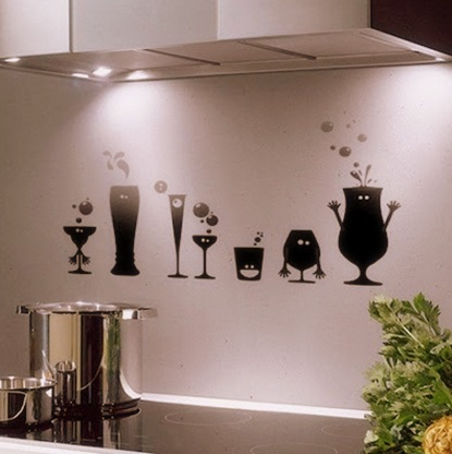 Modern kitchen wall decor