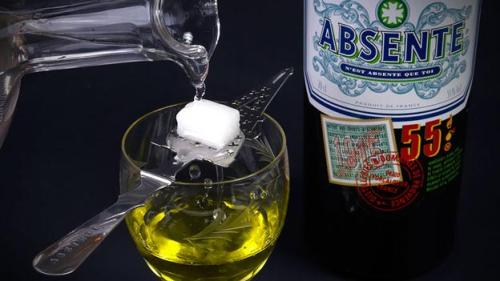 The green stuff     Absinthe, a green liquor known for its hallucinogenic effects and popular with legendary authors and artists, was banned for most of the past century. (Goran Heckler/Alamy)