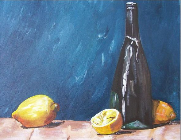 Culinary - Wine & Lemons by Barbara Ruzzene